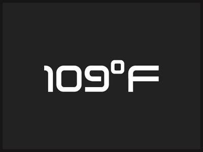 109°F